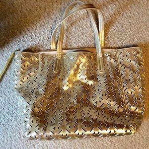 Merona Gold Tote Bag